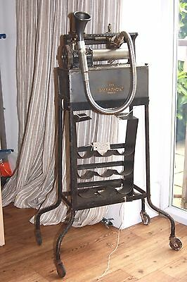 Antique DICTAPHONE with wheeled DOLLY and CYLINDER RACK