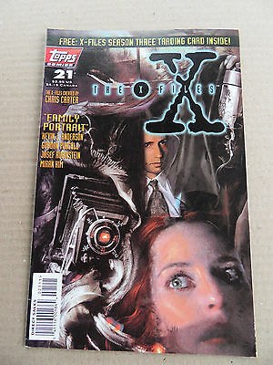 X-Files , The (TV) 21 . Trading Card Insert -Topps  1996 -  FN / VF