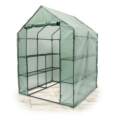 Greenhouse w 8 Compartments Green House,140x190x140cm Man-Sized, Weatherproof
