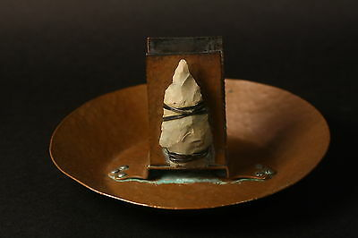 Antique Hammered Copper Match, Cigarette Cigar arts and crafts Joseph Heinrichs