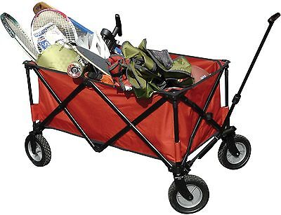 NEW! Ozark Trail FOLDING WAGON CAMPING OUTDOORS EASY STORAGE PARK KIDS (RED)