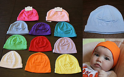 NEW Baby Boy Girl Infant Newborn SMALL COTTON BEANIE HAT Winter Cap Photo Prop