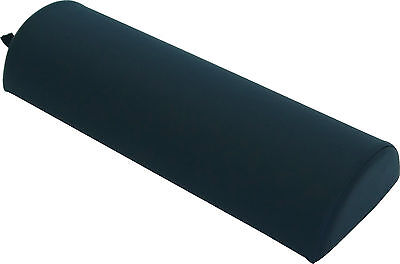 Semi Round Large Black Bolster Pillow Comfort Spa Salon Massage Therapy CDC-Free