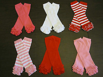 Baby Girl Toddler Child Ruffle Photo Prop PINK LEG WARMERS Leggings