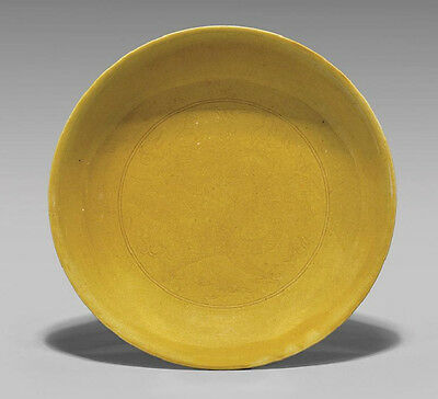 Ming Imperial Yellow Dish Mark & Period