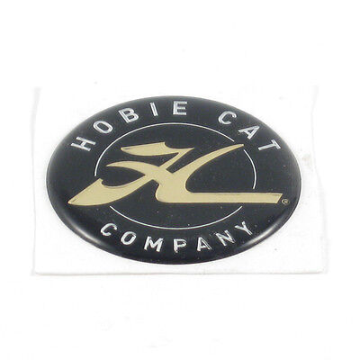 "HOBIE Dome HCC Gold Decal Blk/Gold 1.75"" Round Sticker Catamaran Kayak 72542001"