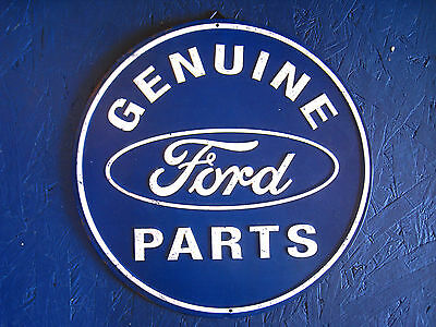 Round Ford Genuine Parts  - Car Truck Metal Sign Tin New Vintage Style