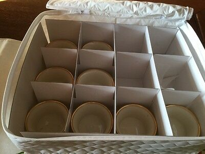 Beautiful Set Of  8. Lenox 86 Pattern Ramekin Bowls Gold Rim!!!