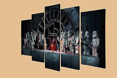 Abstract Star Wars Last Supper Art Darth Vader 5 Panel Wall Canvas Art Picture