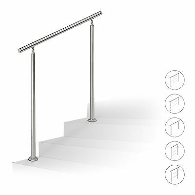 Stainless Steel Handrail Set, Stair Railing Banister for Outdoors, up to 1.5 m