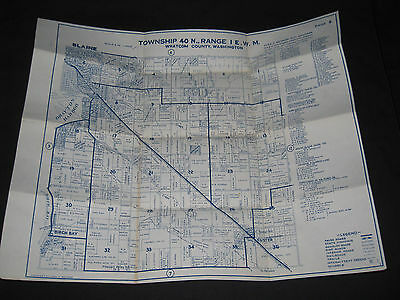 Chas. F. Metsker Map of Blaine Washington