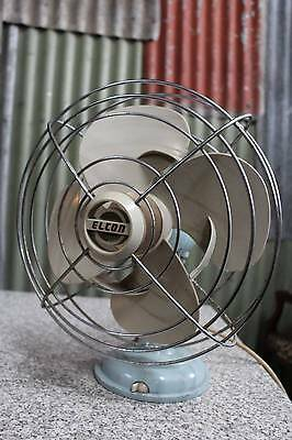 A Retro Elcon Electrical 3 Speed Oscillating Fan