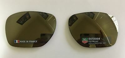 Genuine TAG Heuer 0586 Sunglasses replacement Lenses - Grey/Gold Mirror P/Carb