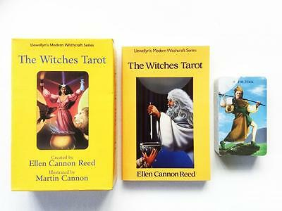 The Witches Tarot Set By Ellen Cannon Reed 78 Card Deck, Guidebook, Layout Sheet