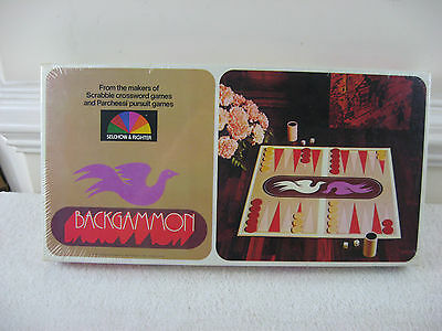 Vintage 1975 Backgammon No.85 by Selchow & Righter Co.~NOS~Factory Sealed