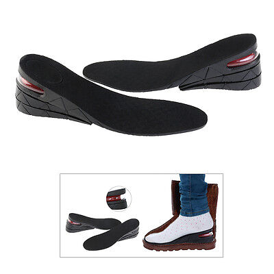 Men Shoe Insole Air Cushion Heel insert Increase Taller Height Lift 7cm 3-Layer