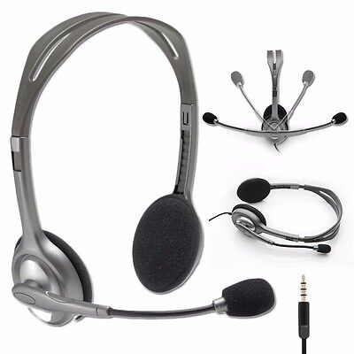 Logitech Stereo Headset H111 Headphones w/ Boom Microphone & Noise Cancellation