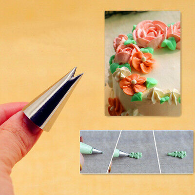 1Pc Leaf Shape Icing Piping Tips Nozzle Cake Cupcake Decorating Pastry Tool