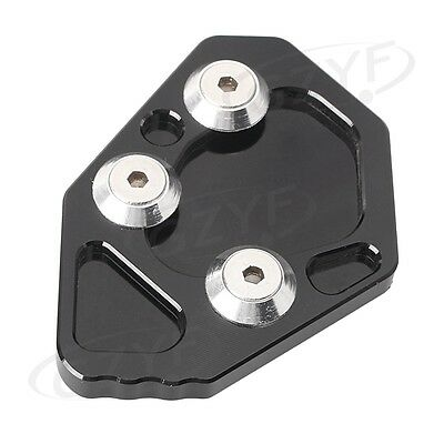 Moto Side Stand Kickstand Foot Plate Pad for BMW K1200S/R K1300S/R Black Color