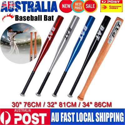 "25""/32"" Wood & 30""/32""/34"" Aluminium Baseball Bat Racket Softball Outdoor Sports"