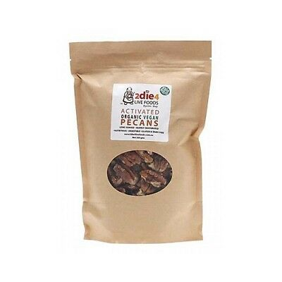 NEW  2DIE4 LIVE FOODS Activated Organic Vegan Pecans