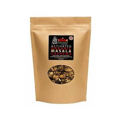 NEW  2DIE4 LIVE FOODS Activated Organic Masala Cashews