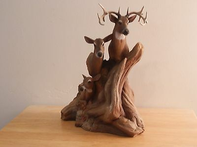 Beautiful Signed Neil Rose Limited Edition Deer Figurine 3 Deer