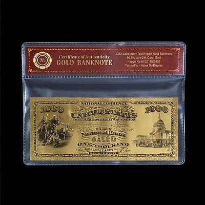 WR 1875 First National Bank $100 Dollars Gold US Banknote Bill for Collection