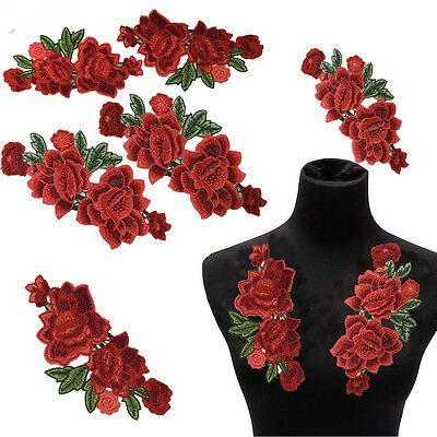 Flower Sequins Embroidery Patches For Sewing on Clothes Applique DIY Crafts