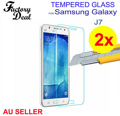 2x Tempered Glass Screen Protector for Samsung Galaxy J7 Anti Scratch