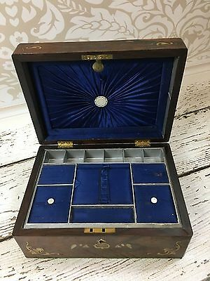 Antique 19th Century Victorian Sewing Box
