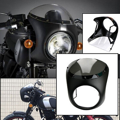 "7"" Headlight Retro Cafe Racer Style Handlebar Fairing & Screen Universal"