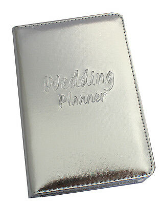 Engagement gift, Wedding Planner Book Silver Bridal Organizer Diary Memento
