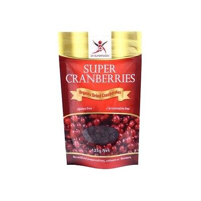 NEW  DR SUPERFOODS Super Cranberries 125g