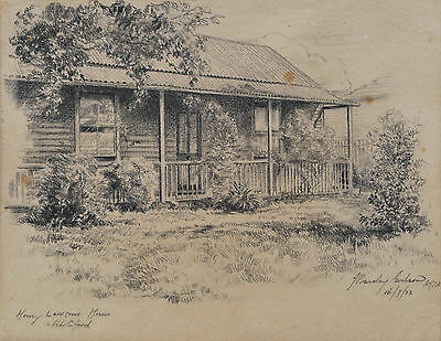 Henry Lawson Family Homes, photograph and pencil drawing, 1880s-1922