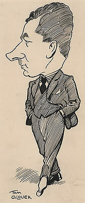 """Tom Glover 1925 drawing of """"G.S. McLean"""" of Victorian State Premier Department"""