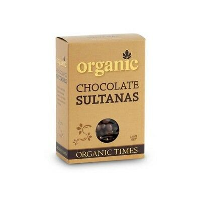 NEW  ORGANIC TIMES Milk Chocolate Sultanas 150g