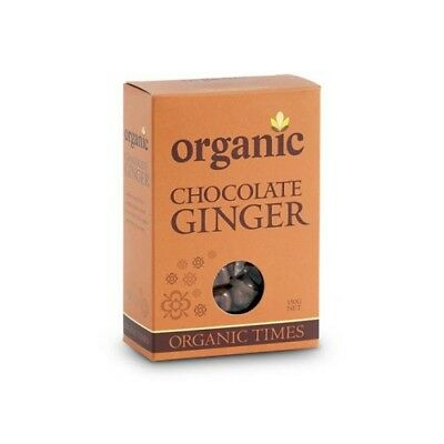 NEW  ORGANIC TIMES Milk Chocolate Ginger 150g