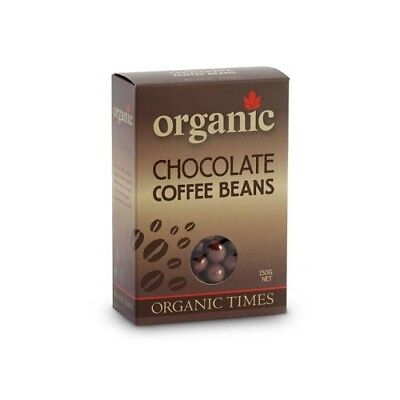 NEW  ORGANIC TIMES Milk Chocolate Coffee Beans 150g