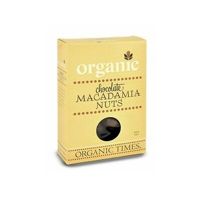 NEW  ORGANIC TIMES Milk Chocolate Macadamia Nuts 150g