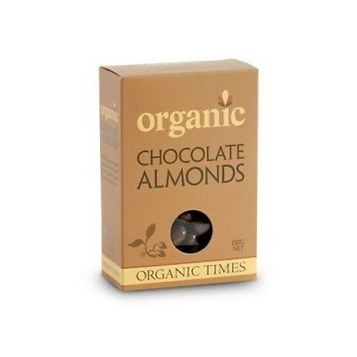 NEW  ORGANIC TIMES Milk Chocolate Almonds 150g