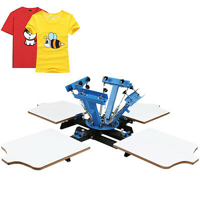 4 Color 4 Station Silk Screen Printing Machine Carousel Printer Pressing GREAT