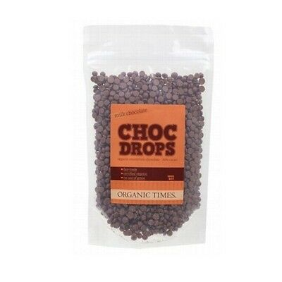 NEW  ORGANIC TIMES Milk Chocolate Drops 500g