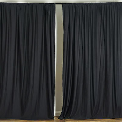 BLACK Polyester Professional BACKDROP CURTAINS 10 x 10 ft Party Decorations SALE