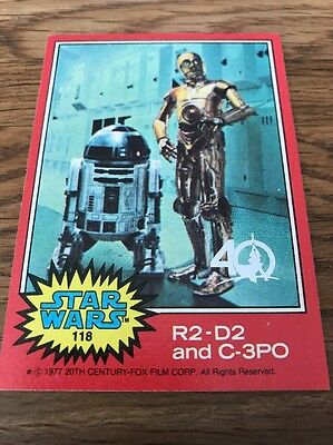 Star Wars 40th Anniversary Buyback Stamp Card #118 R2-D2 And C-3PO
