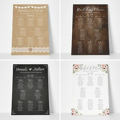 Personalised Seating Table Plan Planner for Wedding