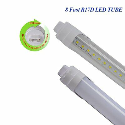 R17D 8 Foot 40W F96T12 T8 Replacement LED Tube Light Lamp 6000K CLEAR MILKY LENS