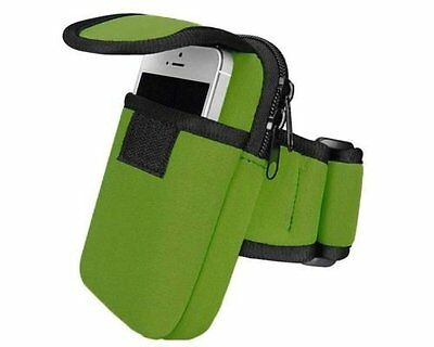 Case/Cover for Smartphone Mobile Phone Universal Running Armband Pouch / Green