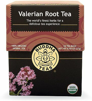Valerian Root Tea, Buddha Teas, 18 tea bag 1 pack
