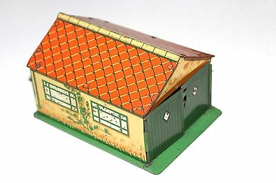Dinky Toys Pre War Tinplate Double Garage # 45 With Patterned Door !!